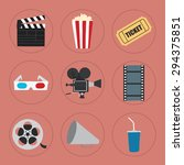 cinema icons set for use in... | Shutterstock .eps vector #294375851