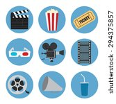 cinema icons set for use in... | Shutterstock .eps vector #294375857