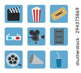 cinema icons set for use in... | Shutterstock .eps vector #294375869