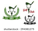 golf club emblems or logo... | Shutterstock .eps vector #294381275