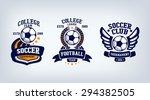 soccer club emblem  college... | Shutterstock .eps vector #294382505