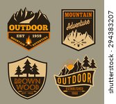 set of outdoor camping... | Shutterstock .eps vector #294383207