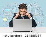 profit  workflow  laptop.   Shutterstock . vector #294385397