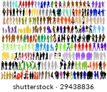 fashion colorful silhouettes... | Shutterstock .eps vector #29438836