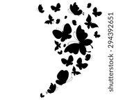 butterflies design | Shutterstock .eps vector #294392651
