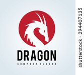 dragon logo template | Shutterstock .eps vector #294407135