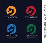 dragon vector logo design... | Shutterstock .eps vector #294407141