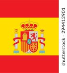 vector spanish flag backdrop | Shutterstock .eps vector #294412901