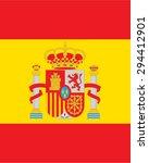 vector spanish flag backdrop | Shutterstock .eps vector #294412901