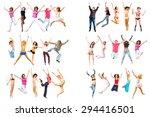 team achievement isolated   | Shutterstock . vector #294416501