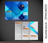 tri folder brochure   leaflet...   Shutterstock .eps vector #294418055