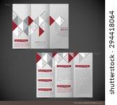 tri folder brochure   leaflet... | Shutterstock .eps vector #294418064