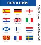 vector flags of europe set   Shutterstock .eps vector #294418427