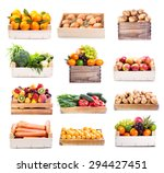 Set Of Various Fruits And...