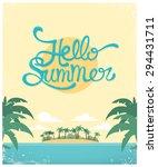 vector summer greeting card... | Shutterstock .eps vector #294431711
