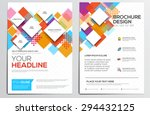 abstract geometric design... | Shutterstock .eps vector #294432125