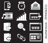 website icon set vector... | Shutterstock .eps vector #294436211