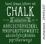 vector set with hand written... | Shutterstock .eps vector #294451337