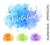 vector calligraphy on... | Shutterstock .eps vector #294452141