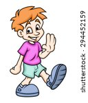 happy cartoon boy   Shutterstock .eps vector #294452159