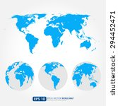 blue world map collection with... | Shutterstock .eps vector #294452471