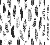 feather rustic seamless pattern.... | Shutterstock .eps vector #294454889