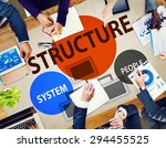 business structure flowchart... | Shutterstock . vector #294455525