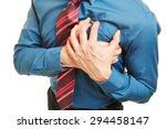 man having heart attack or... | Shutterstock . vector #294458147