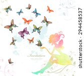 Greeting Card With Fairy With...