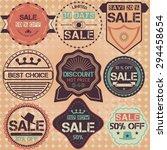 set of sale price discount... | Shutterstock .eps vector #294458654