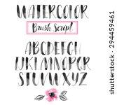handwritten watercolor... | Shutterstock .eps vector #294459461