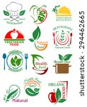 vegetarian and natural healthy... | Shutterstock .eps vector #294462665