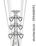 high voltage transmission lines ... | Shutterstock . vector #294468491