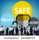 safe privacy locked security... | Shutterstock . vector #294468797