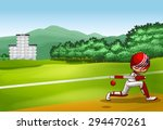 man hitting ball with wooden bat