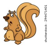 Surprised Squirrel Character