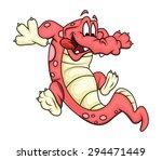 cartoon crocodile playing   Shutterstock .eps vector #294471449