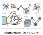vector linear concept of... | Shutterstock .eps vector #294472979