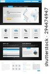 vector corporate website... | Shutterstock .eps vector #294474947