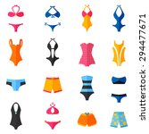 woman swimwear and swim suits... | Shutterstock .eps vector #294477671
