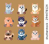 set of flat popular breeds of... | Shutterstock .eps vector #294478124