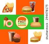 fast food restaurant menu with... | Shutterstock .eps vector #294478175