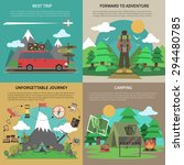 best trips and camping for... | Shutterstock .eps vector #294480785