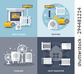 heating and cooling design... | Shutterstock .eps vector #294481214