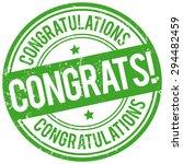 congrats stamp | Shutterstock .eps vector #294482459
