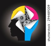smart printing technology....   Shutterstock .eps vector #294489209