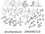 vector hand drawn arrows set... | Shutterstock .eps vector #294490715