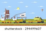 vector cement factory and work... | Shutterstock .eps vector #294499607