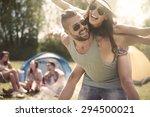 couple spending weekend with... | Shutterstock . vector #294500021