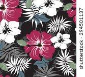 floral seamless pattern  ... | Shutterstock .eps vector #294501137